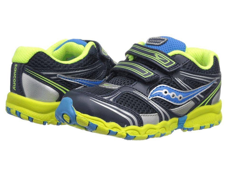 Saucony Kids - Baby Catalyst HL (Toddler) (Blue/Citron/Silver) Boys Shoes