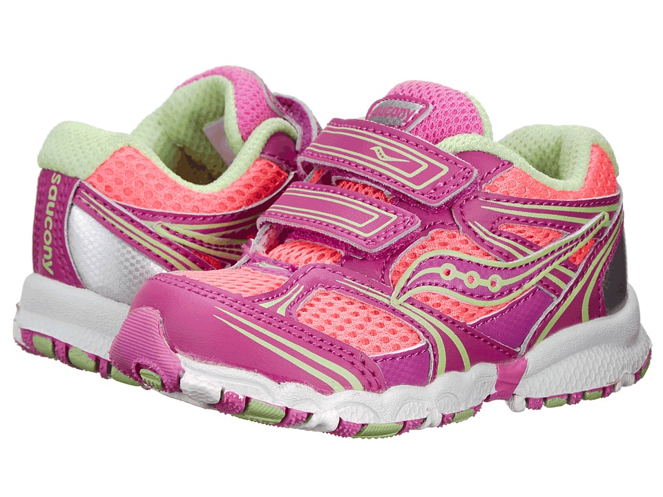 Saucony Kids - Baby Catalyst HL (Toddler) (Pink/Magenta/Green) Girls Shoes