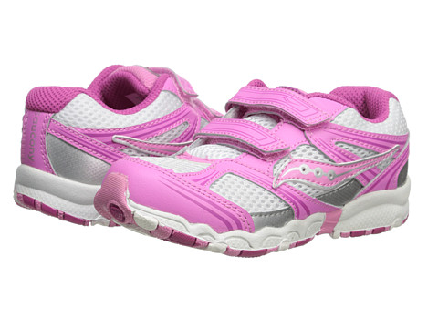 Saucony Kids - Baby Catalyst HL (Toddler) (White/Pink) Girls Shoes