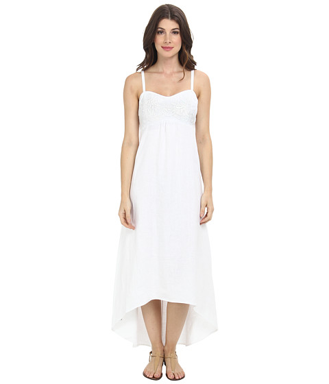 Tommy Bahama - Two Palms Embellished Bodice Dress (White) Women