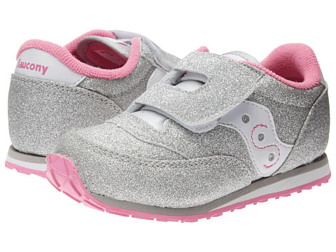Saucony Kids - Jazz HL (Toddler/Little Kid) (Silver/White) Kids Shoes
