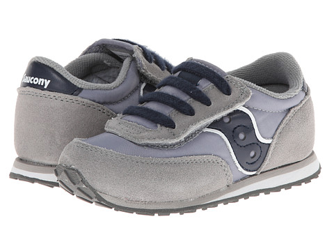 Saucony Kids - Baby Jazz A/C (Toddler/Little Kid) (Grey/Navy) Boys Shoes
