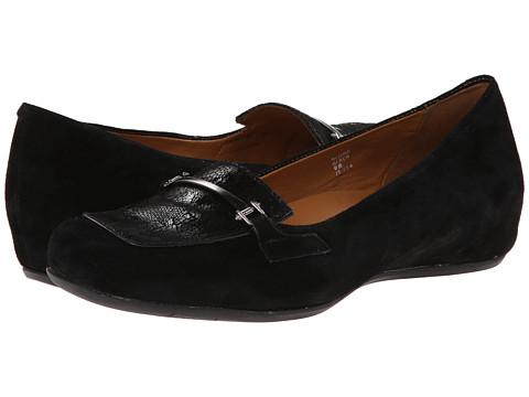 Earthies - Alora (Black Suede) Women's Slip on Shoes