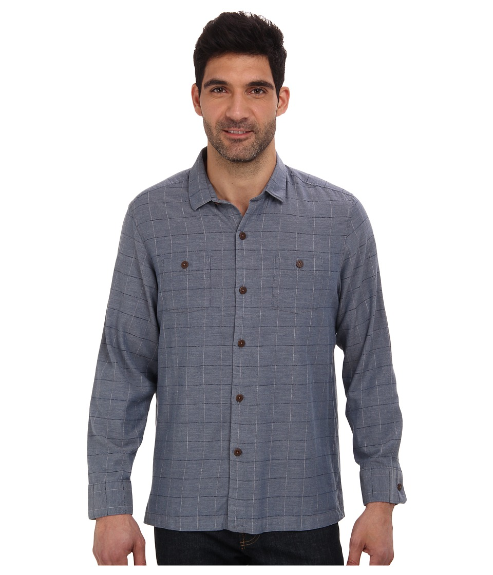 Tommy Bahama - Island Modern Fit Yes Sur Plaid L/S Shirt (Caspian Sea) Men's Clothing