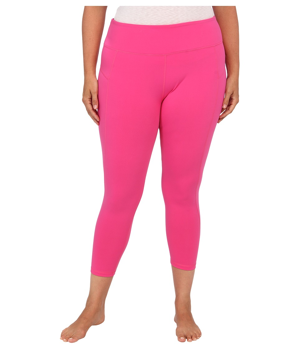 MSP by Miraclesuit - Plus Size Crop Pant Legging with Core Control (Raspberry Ice) Women