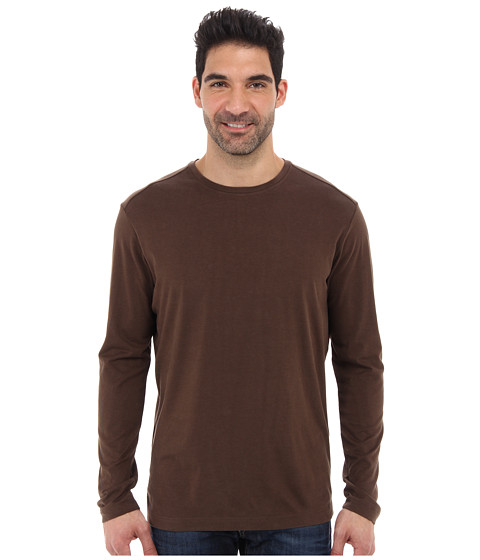 Tommy Bahama - New L/S Palm Cove Tee (Light Pure Chocolate) Men