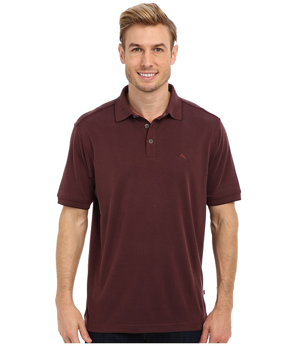 Tommy Bahama - All Square Polo (Chestnut) Men's Short Sleeve Pullover