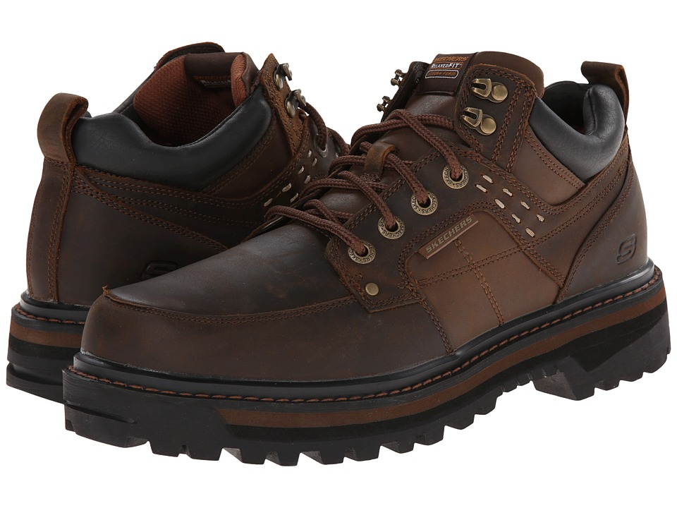 SKECHERS - Relaxed Fit Mid High Boot (Dark Brown) Men's Shoes