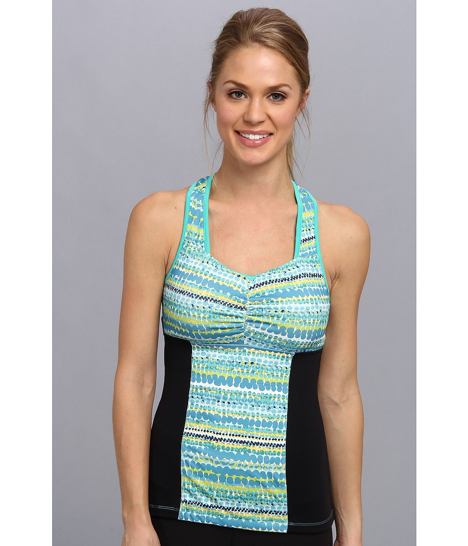 MSP by Miraclesuit - Water Mark Ruched Front Tank Top (Mint Julep Combo) Women's Sleeveless