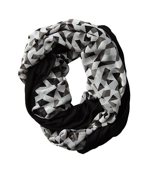 Calvin Klein - Jersey/Chiffon Infinity Loop (Black) Scarves