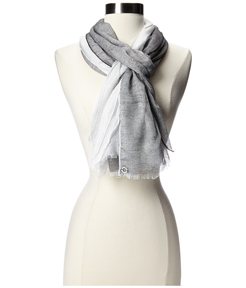 Calvin Klein - 3 Layer Scarf with Shine (Black) Scarves