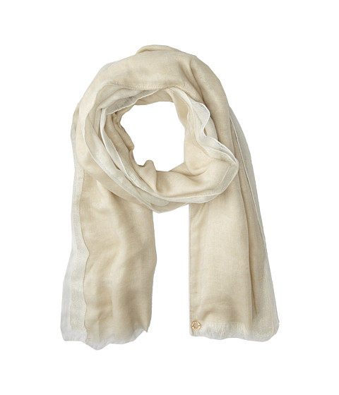 Calvin Klein - 3 Layer Scarf with Shine (Latte) Scarves
