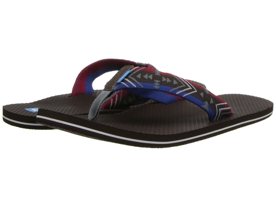 Freewaters - Fish (Brown/Red/Blue) Men's Sandals