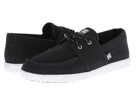 DC - Hampton (Black/Black/White Multi Snake) Men's Skate Shoes