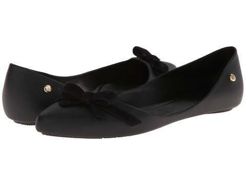 Melissa Shoes - Melissa Trippy (Black/Black Bow) Women's Flat Shoes