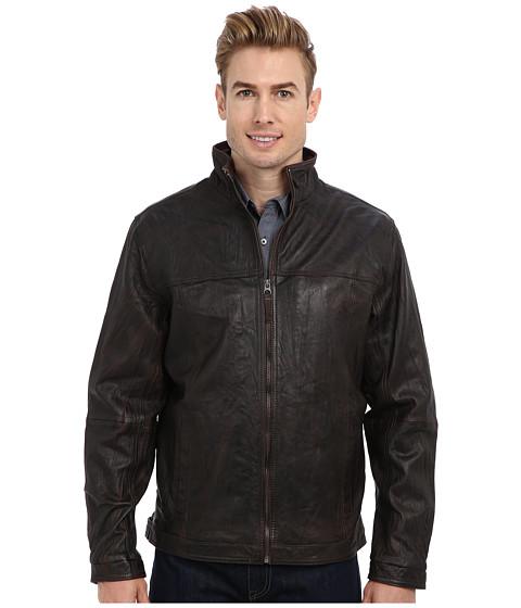 Tommy Bahama - Sunset Rider Leather Jacket (Dark Brown) Men's Clothing