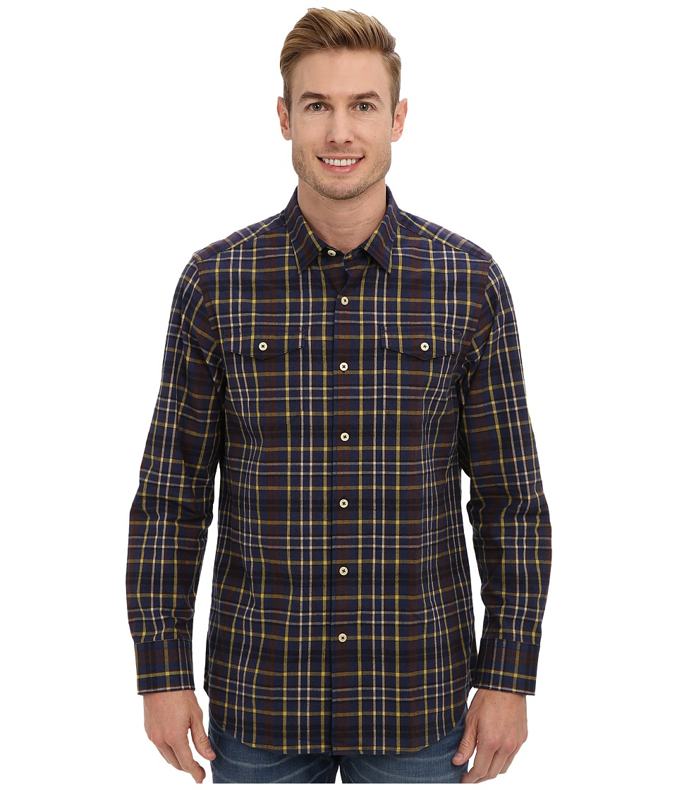 Tommy Bahama - Calistoga Check L/S Shirt (Navy) Men