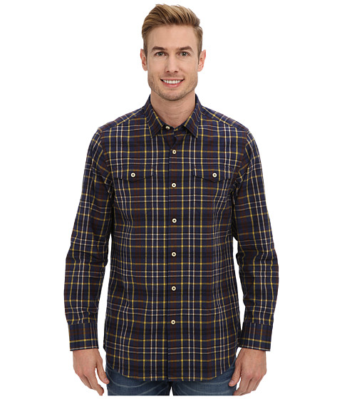 Tommy Bahama - Calistoga Check L/S Shirt (Navy) Men's Clothing