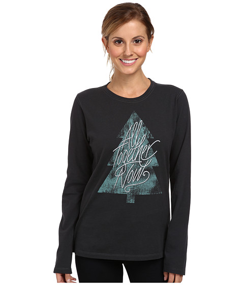 Life is good - Crusher L/S Tee (Night Black/Together Tree) Women's Long Sleeve Pullover