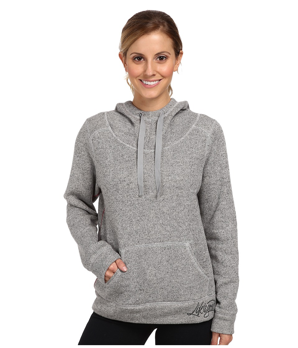 Life is good - Holiday Sleep Hoodie (Heather Gray) Women's Long Sleeve Pullover