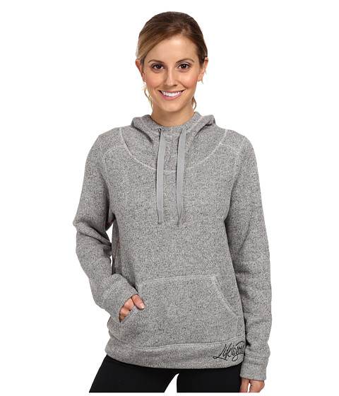 Life is good - Holiday Sleep Hoodie (Heather Gray) Women