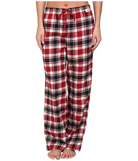 Life is good - Plaid Flannel Sleep Pant (Holiday Red Yarn Dye Plaid) Women