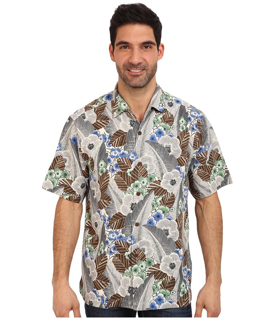 Tommy Bahama - Al Deco S/S Camp Shirt (Grey) Men