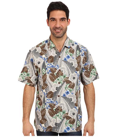 Tommy Bahama - Al Deco S/S Camp Shirt (Grey) Men's Clothing