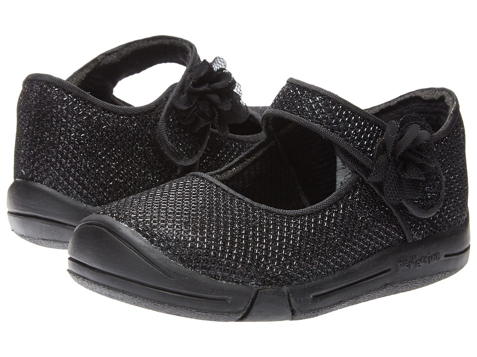 Jumping Jacks Kids - Sylvia (Toddler) (Black Glitter) Girl's Shoes