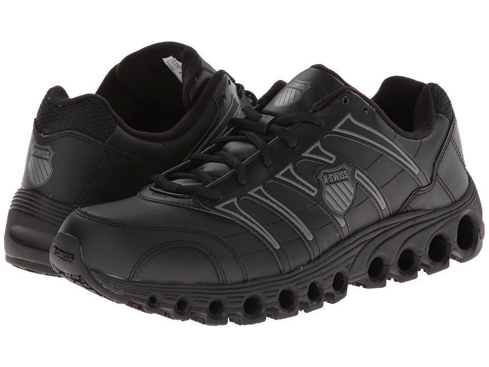 K-Swiss - Grancourt II Slip Resistant (Black/Charcoal) Men's Running Shoes