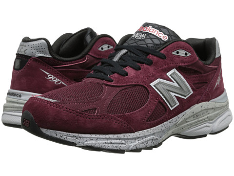 New Balance - M990v3 (Burgundy) Men's Running Shoes