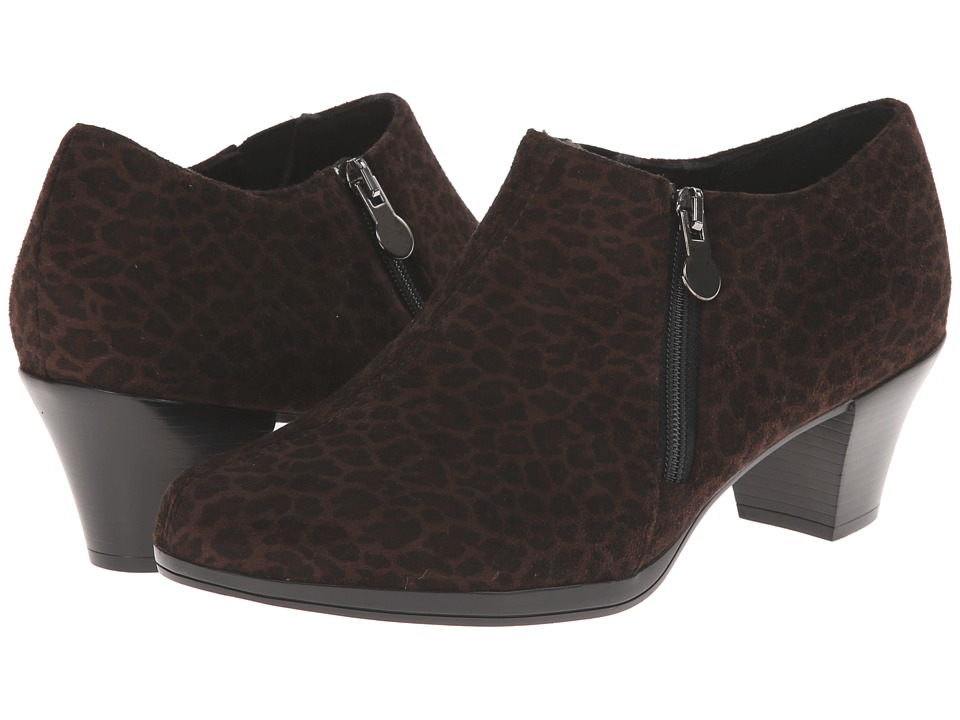 Munro American - Taylor (Leopard Fabric) Women's Zip Boots