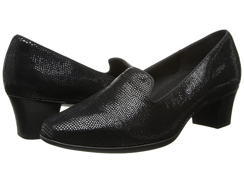 Munro American - Layla (Black Mini Lizard Print) Women's 1-2 inch heel Shoes
