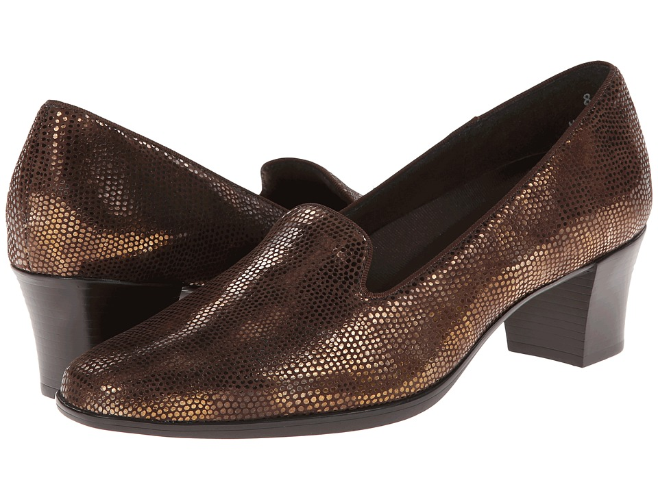 Munro - Layla (Bronze Mini Lizard) Women's 1-2 inch heel Shoes