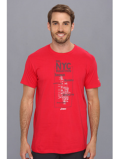 SALE! $9.99 - Save $12 on ASICS NY Map S S (Blood Red) Apparel - 54.59% OFF $22.00