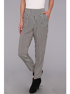 SALE! $54.99 - Save $43 on Free People Stripe Easy Pleat Pant (Black And White) Apparel - 43.89% OFF $98.00