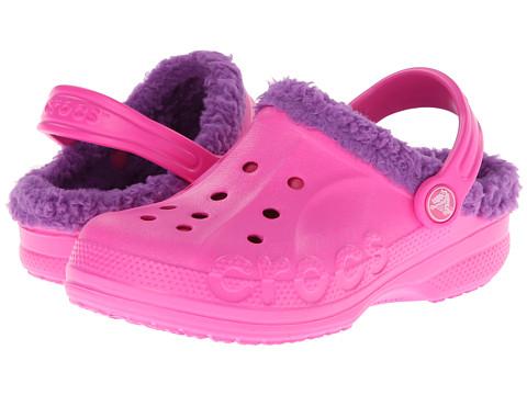 Crocs Kids - Baya Lined Kids (Toddler/Little Kid) (Neon Magenta/Amethyst) Kids Shoes