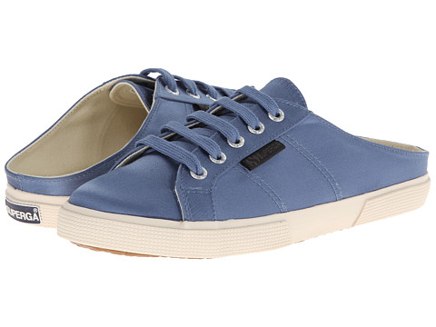 Superga - The Man Repeller x Superga - 2288 Satinw (Denim Blue) Women's Lace up casual Shoes