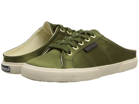 Superga - The Man Repeller x Superga - 2288 Satinw (Olive Green) Women's Lace up casual Shoes