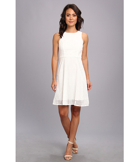 Vince Camuto - Square Eyelet Dress (New Ivory) Women