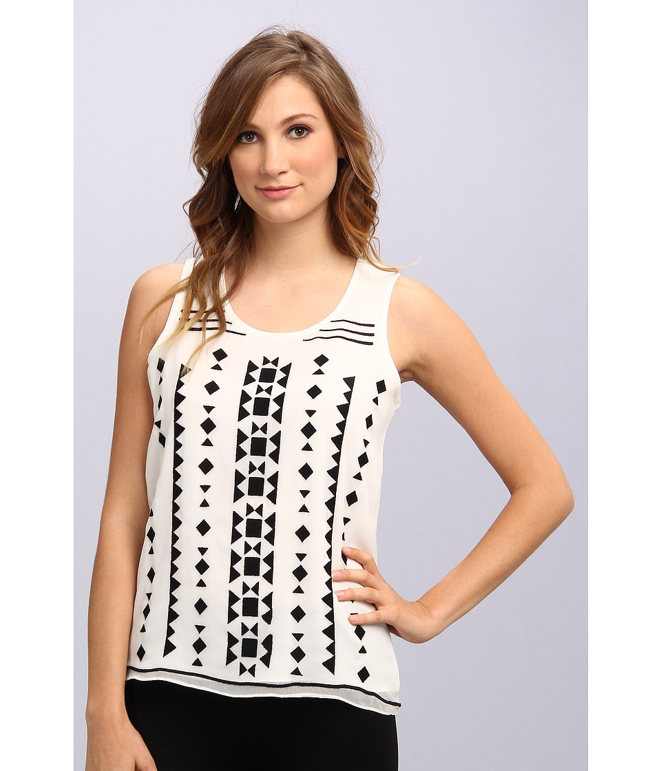 Vince Camuto - Tribal Embellished Tank (New Ivory) Women's Sleeveless