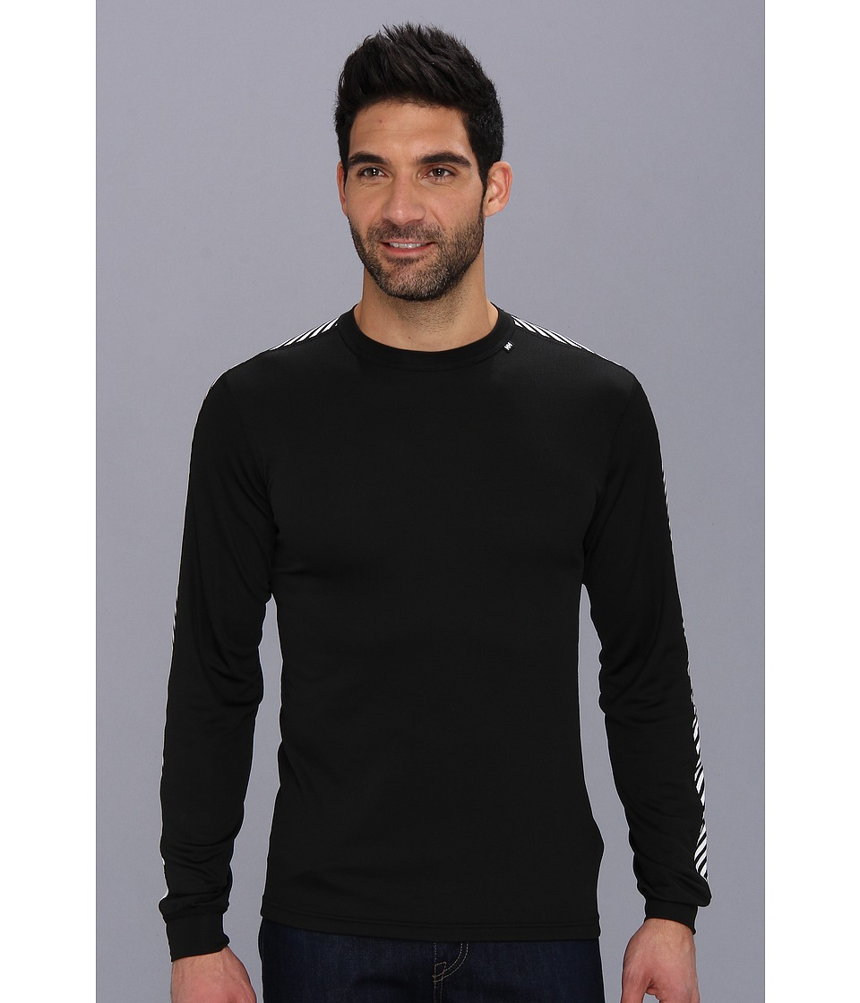 Helly Hansen - HH Dry Stripe Crew (Black 1) Boy's Long Sleeve Pullover