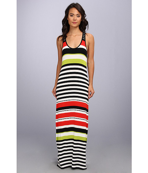 Vince Camuto - Ethnic Multi Stripe Maxi Dress (Flame) Women's Dress