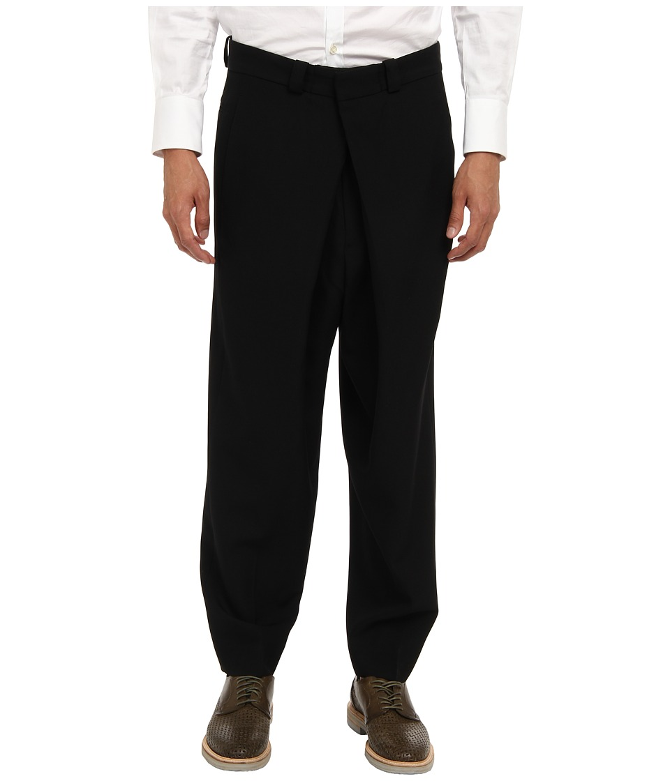 McQ - Front Pleat Trouser (Darkest Black) Men's Casual Pants
