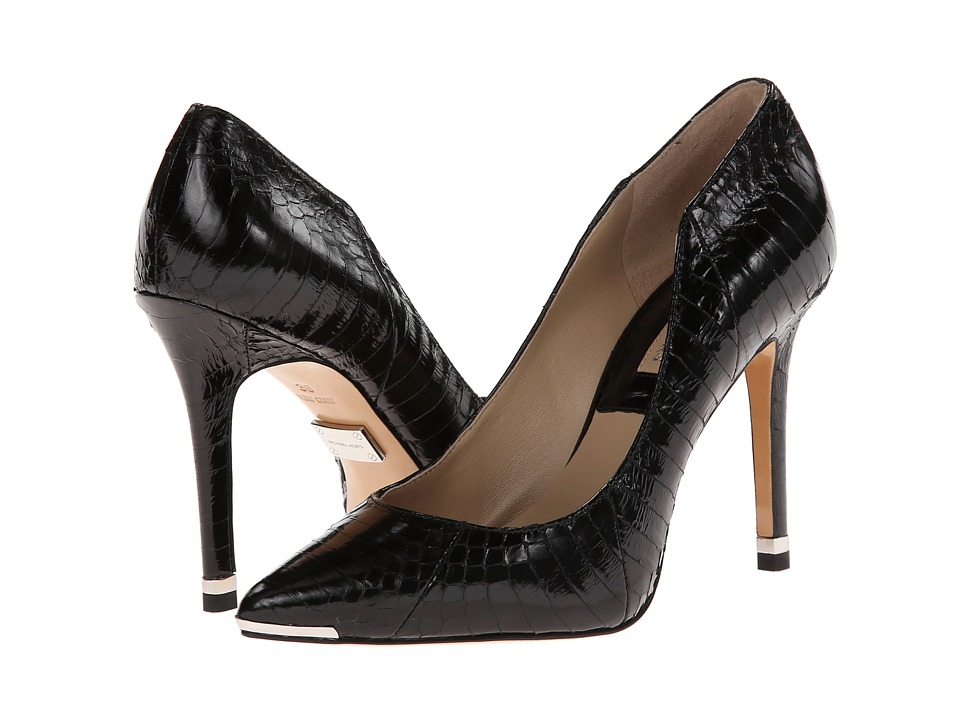 Michael Kors - Avra (Black Genuine Snake Solid) High Heels