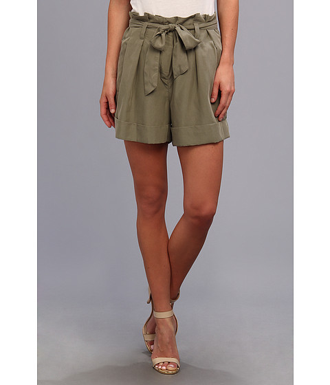Vince Camuto - Paperbag Waist Short (Safari Green) Women