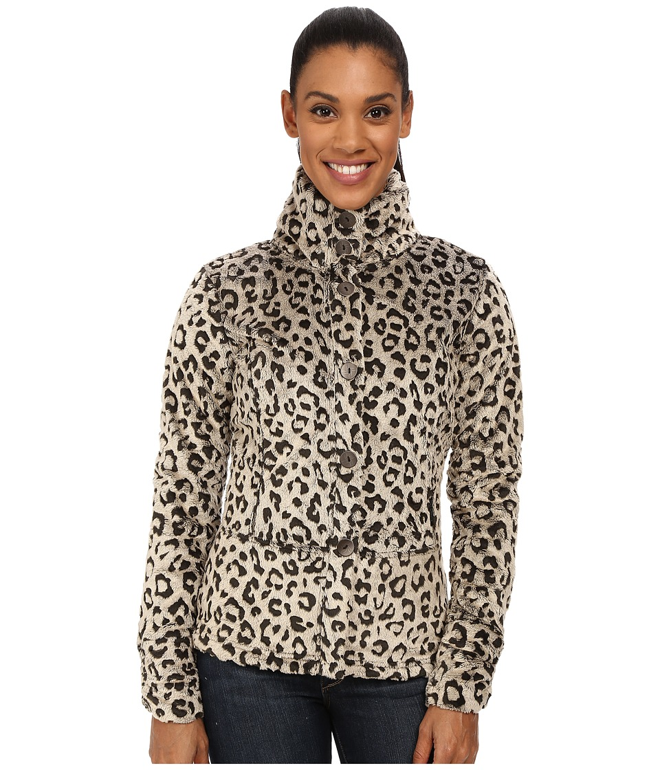 Hot Chillys - La Reina Print Jacket (Leopard Pewter) Women's Jacket