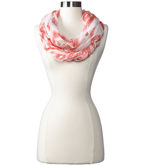 Echo Design - Island Ikat Sequined Loop (Orange) Scarves