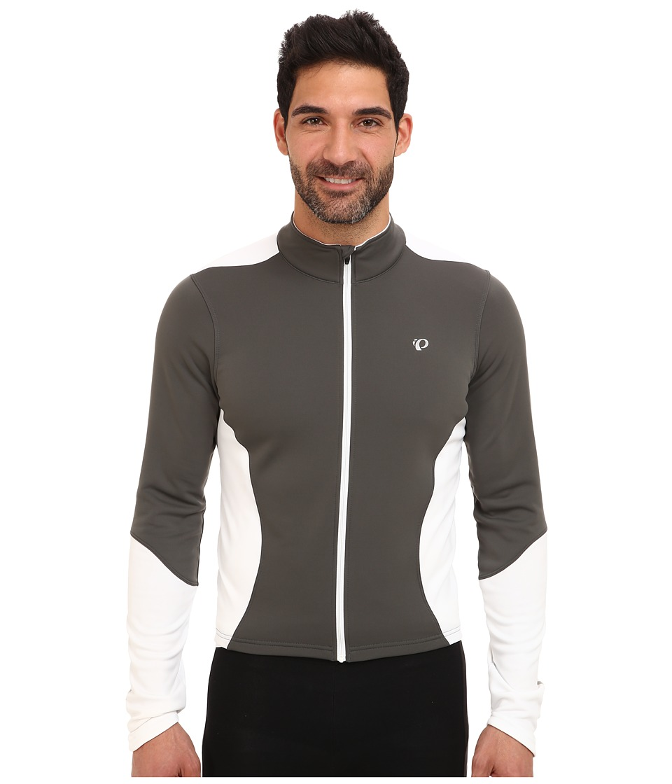 Pearl Izumi - Select Thermal Jersey (Shadow Grey/White) Men's Long Sleeve Pullover