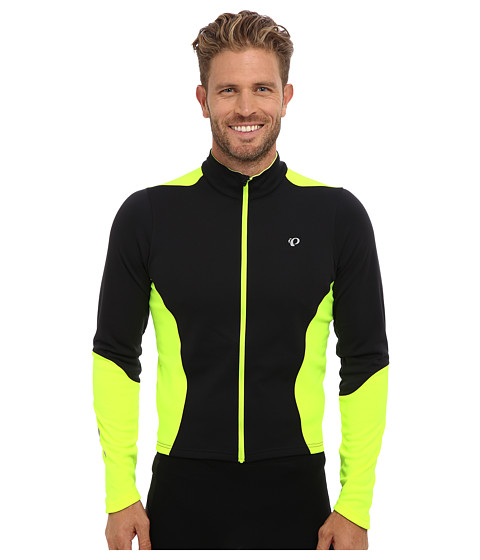 Pearl Izumi - Select Thermal Jersey (Black/Screaming Yellow) Men's Long Sleeve Pullover